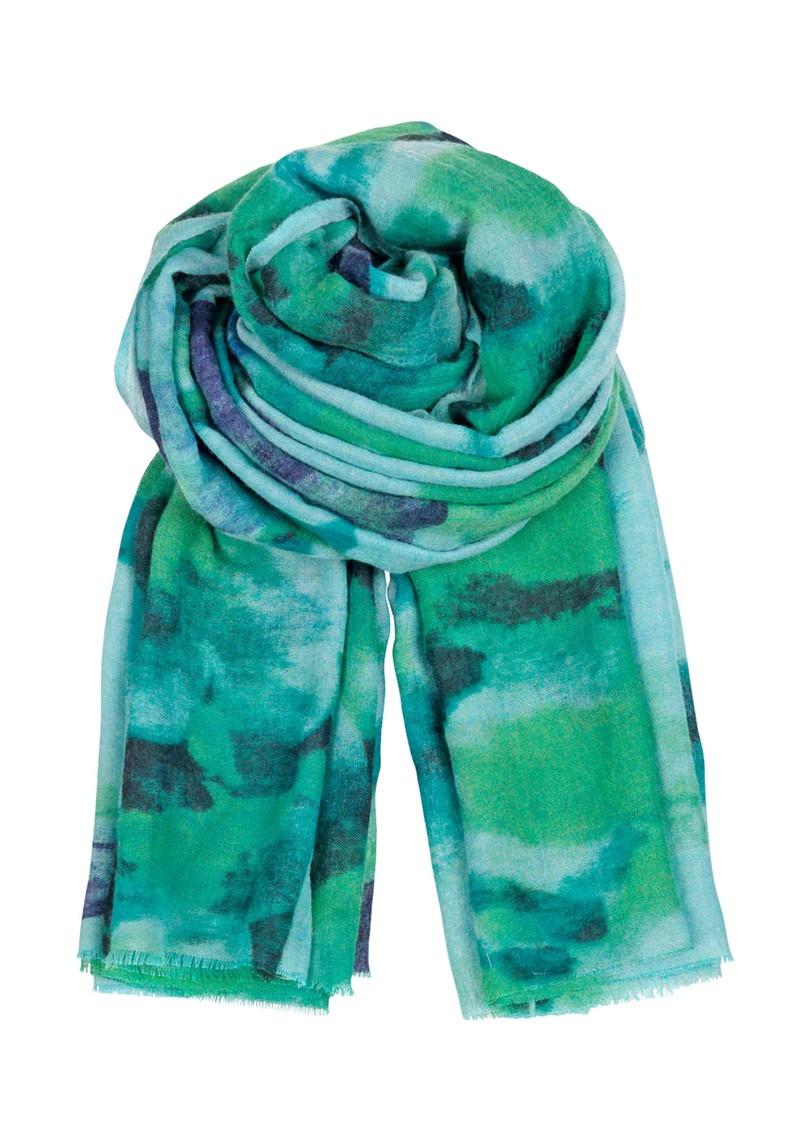 Becksondergaard I Fleur Peinte Wool & Silk Scarf - Acid Green main image