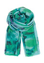 I Fleur Peinte Wool & Silk Scarf - Acid Green additional image