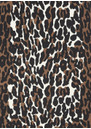 NADIA TARR Animal Print Padded Shoulder Gown - Leopard
