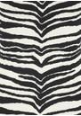 NADIA TARR Animal Print Padded Shoulder Gown - Zebra