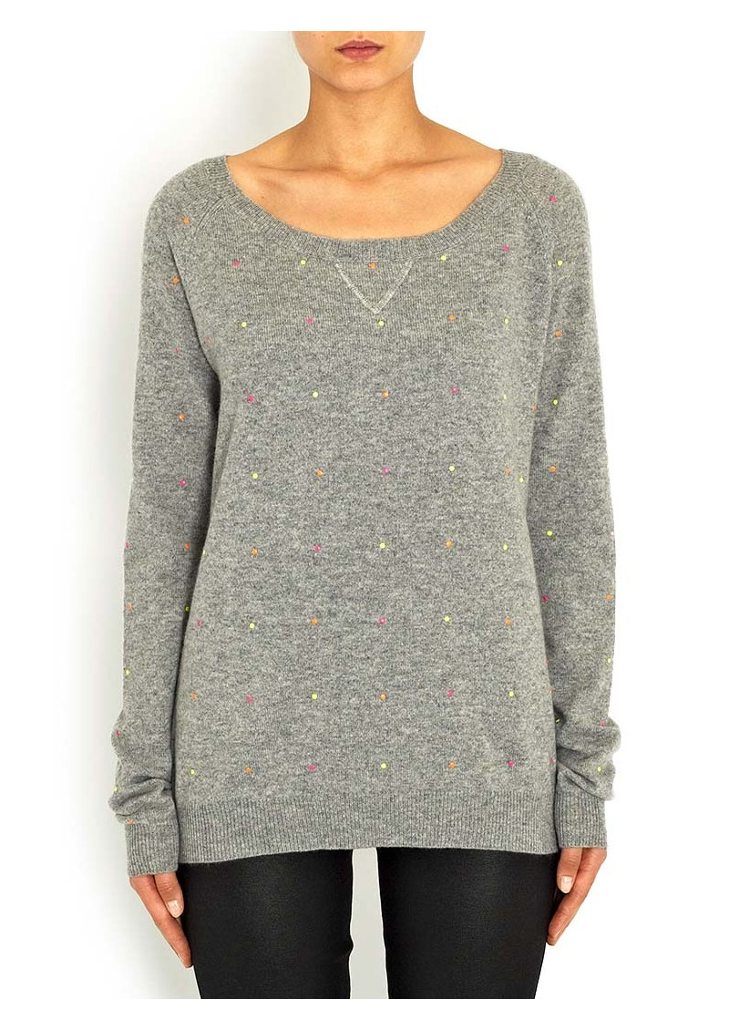 ALISON WHITE Pull Pois Pullover - Grey main image