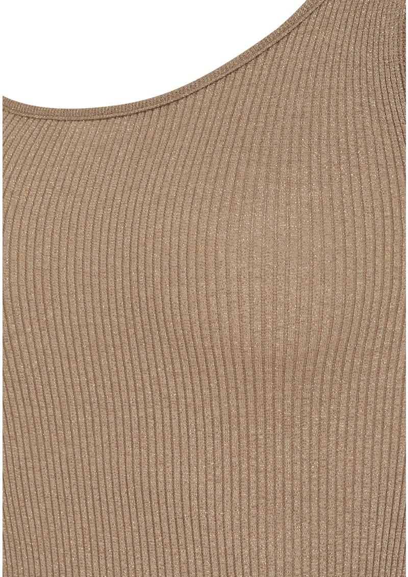 Rosemunde Silk Blend Lurex Vest - Gold main image
