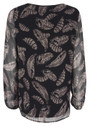 Behati Feather Print Top - Black additional image