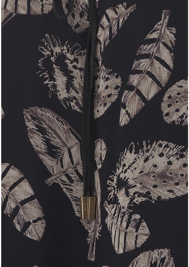 Hale Bob Behati Feather Print Top - Black main image