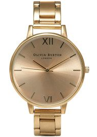 Olivia Burton Big Dial Bracelet Watch - Gold