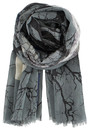 Becksondergaard G-Movember Silk & Wool Mix Scarf - Mouse
