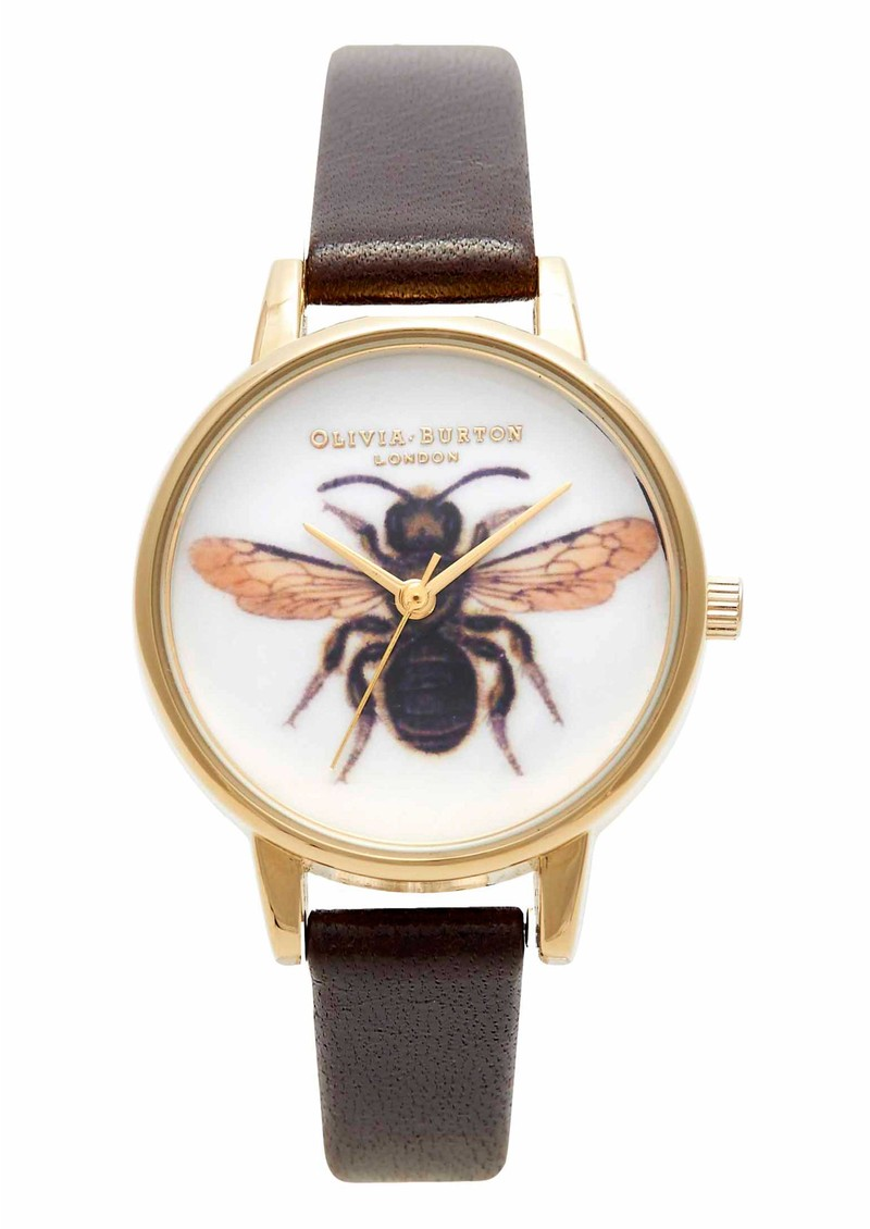 Olivia Burton Woodland Bee Watch - Chocolate & Gold main image