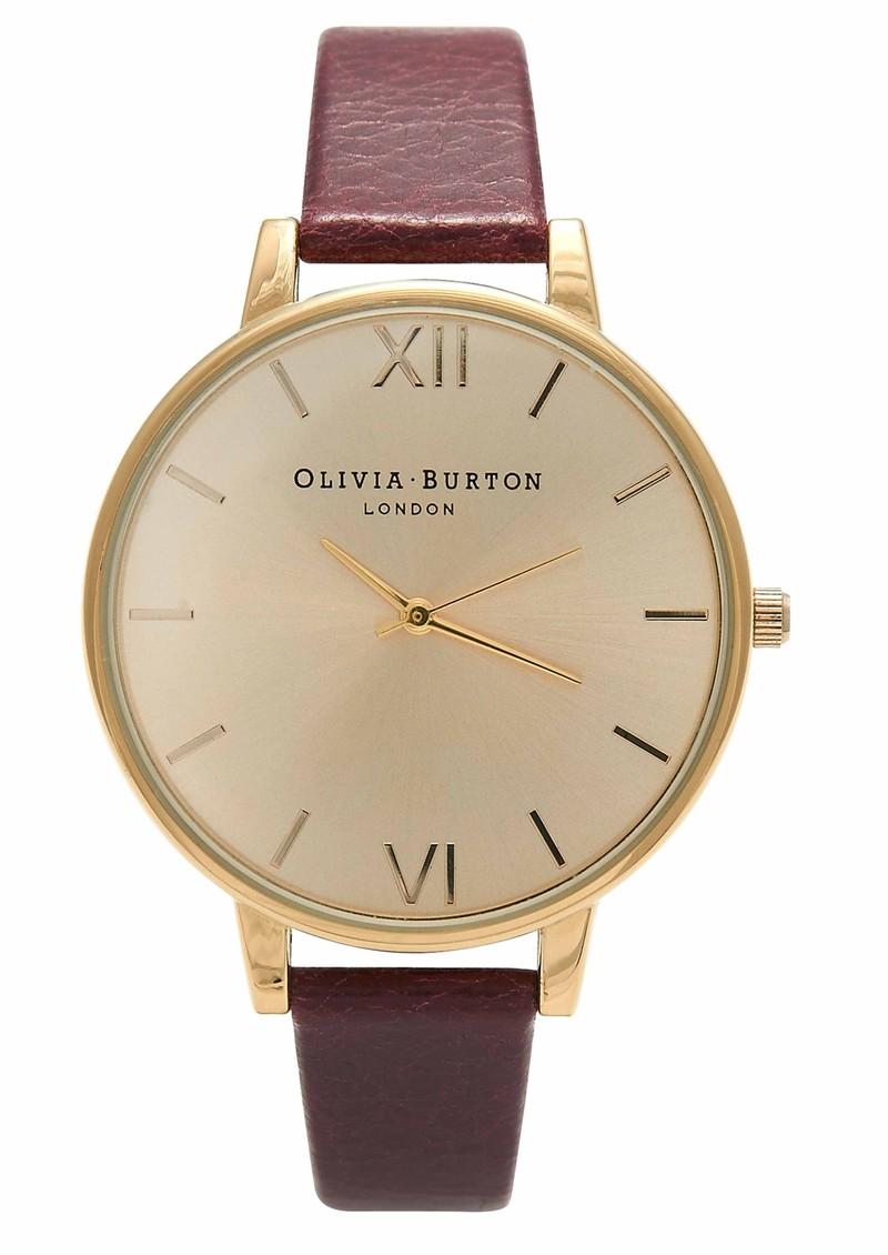 Olivia Burton Big Dial Watch - Oxblood & Gold main image
