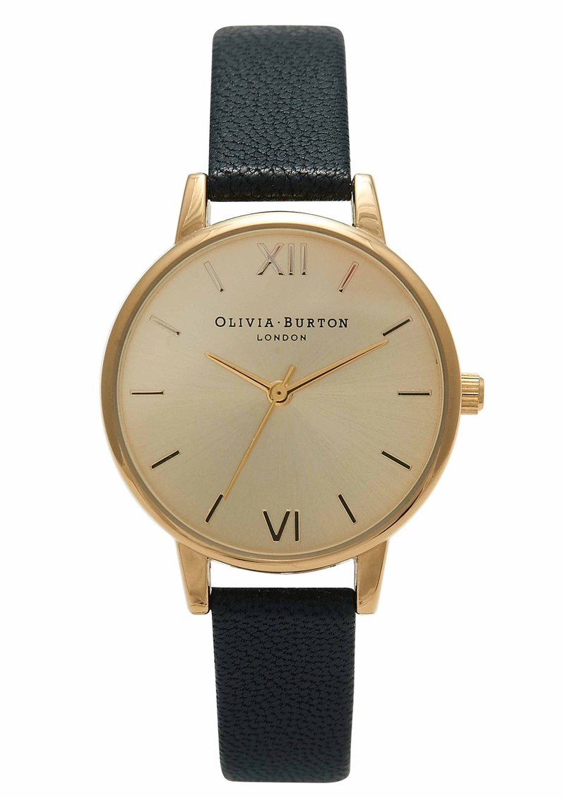 Olivia Burton Midi Dial Watch - Black & Gold main image