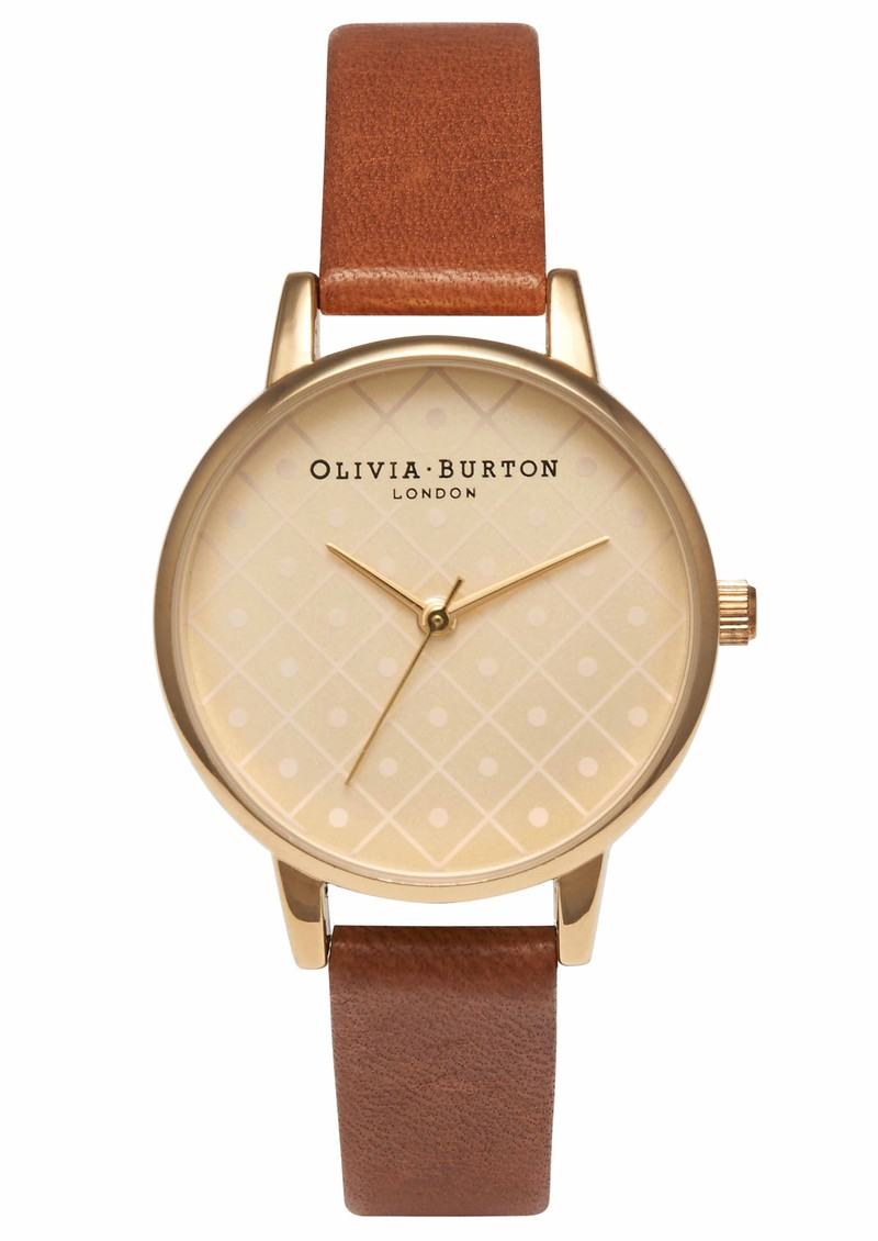 Olivia Burton Modern Vintage Watch - Tan & Gold main image