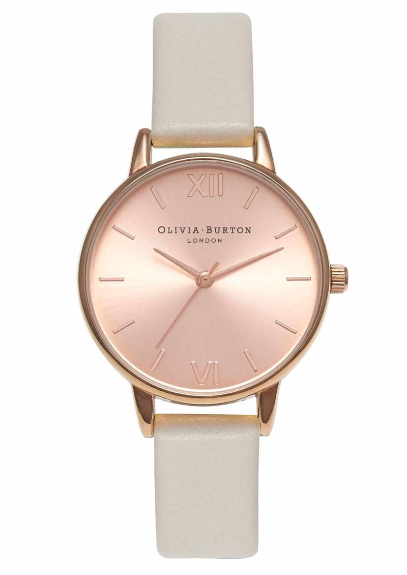 Olivia Burton Midi Dial Watch - Mink & Rose Gold main image