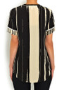 Stripe Silk Tee - Nude & Black additional image