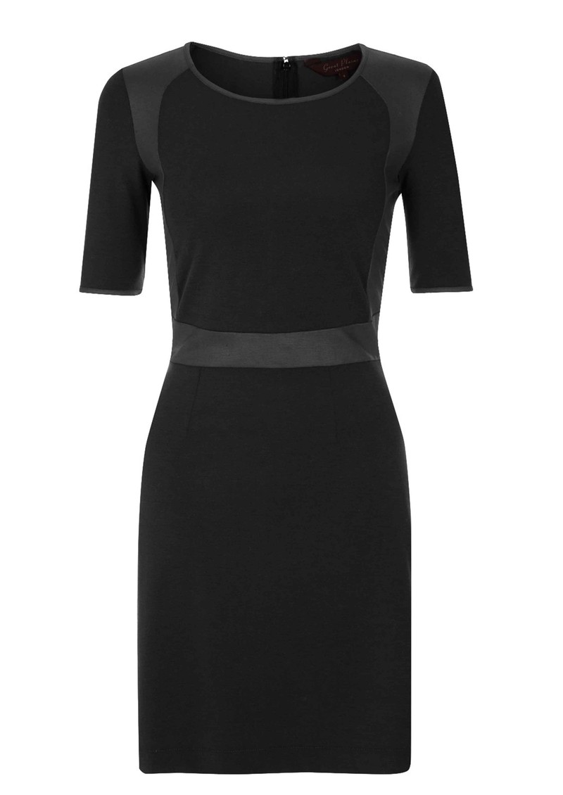 Great Plains Madison Panel Dress - Black  main image