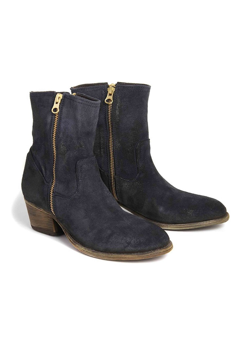 Hudson London Riley Suede Ankle Boot - Navy main image