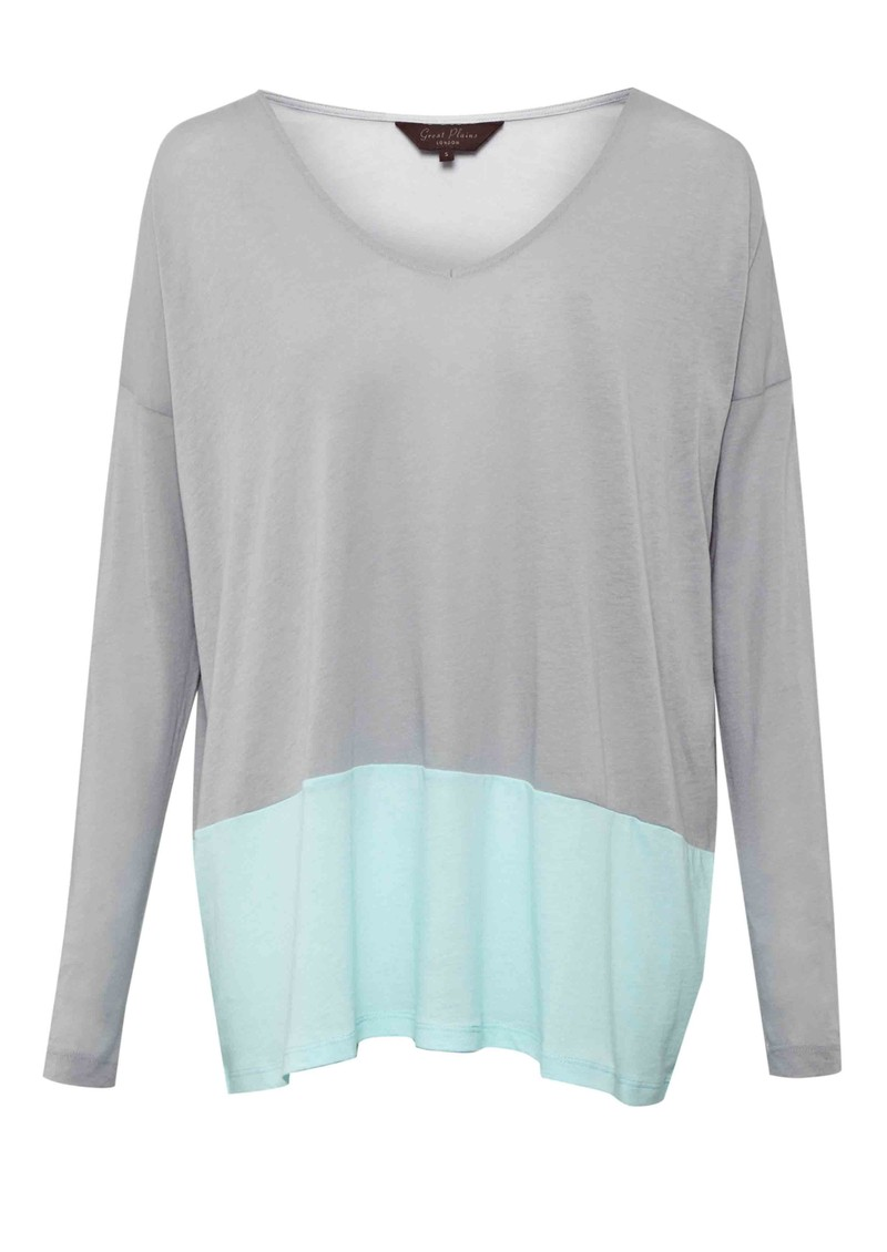 Great Plains Featherwt Block Tee - Marble & Mint main image
