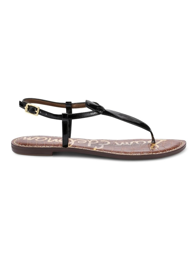 d29b57bf7219 Sam Edelman Gigi Patent Leather Sandals - Black