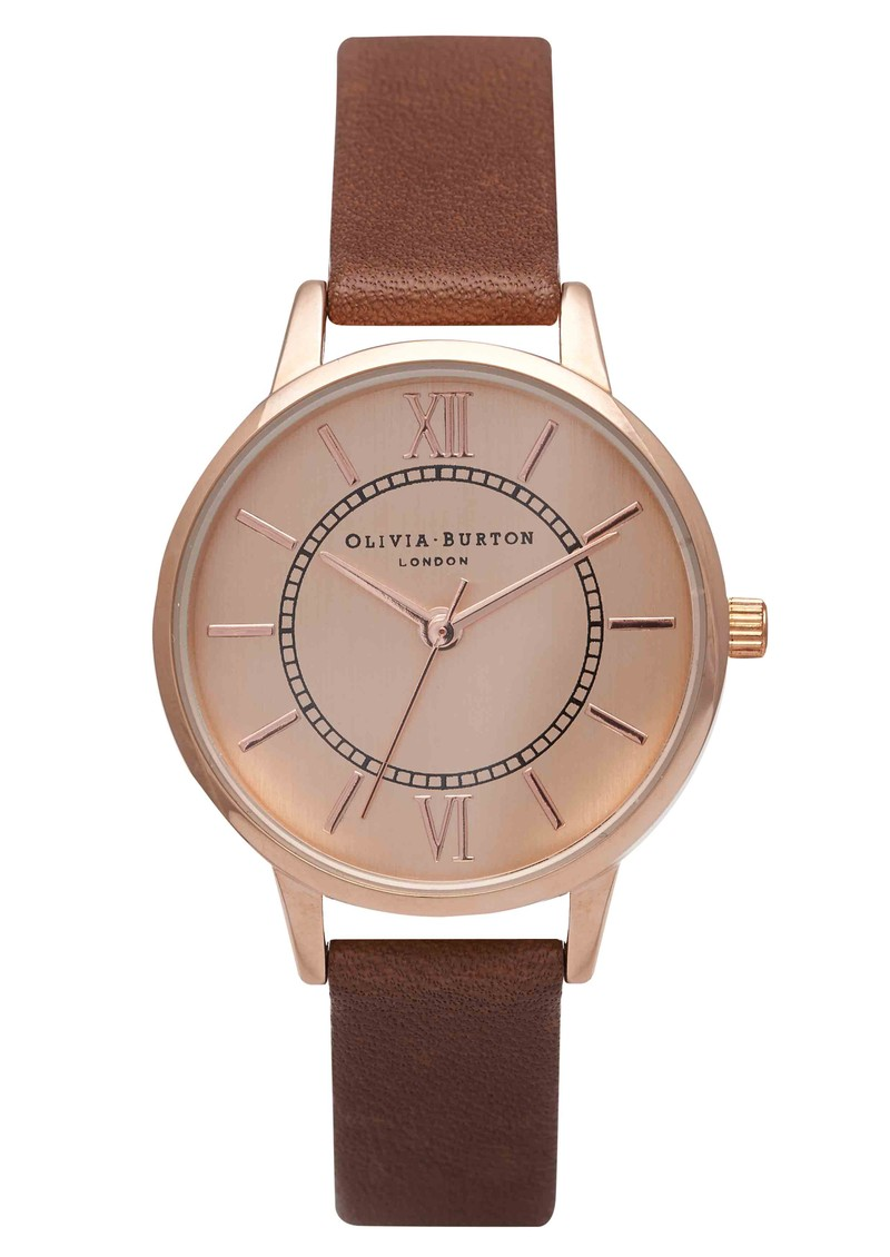 Olivia Burton Wonderland Watch - Brown & Rose Gold main image
