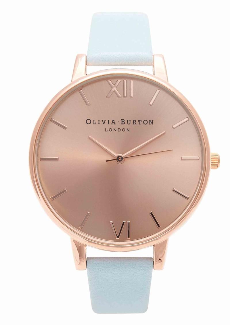 Olivia Burton Big Dial Watch - Powder Blue & Rose Gold main image