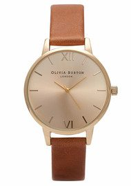 Olivia Burton Midi Dial Watch - Tan & Gold