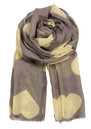 Becksondergaard H Wollen Big Hearts Silk & Wool Scarf - Lemon Curd