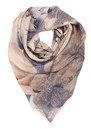 H Cyber Flowers SIlk Scarf - Dull Green additional image