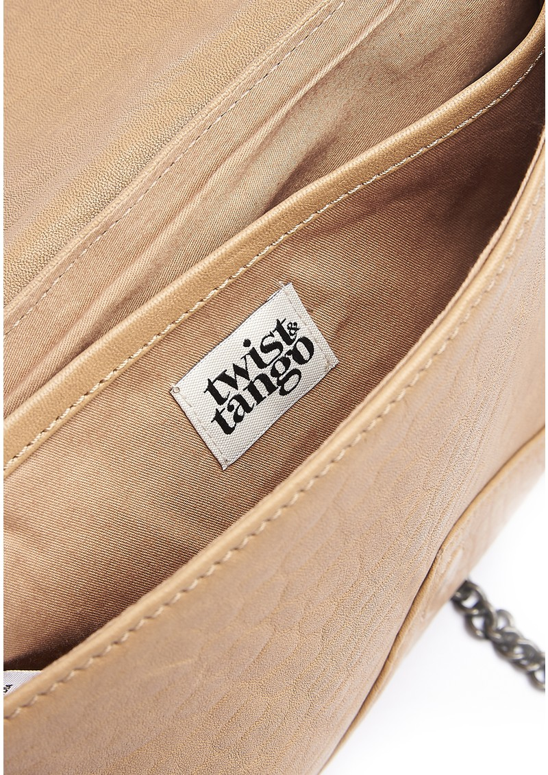 Twist and Tango Tammy Leather Clutch Bag - Beige  main image