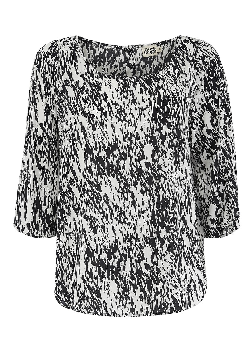 Twist and Tango Noelle Blouse - White & Black main image
