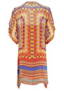 Printed Silk Tunic - Coral additional image