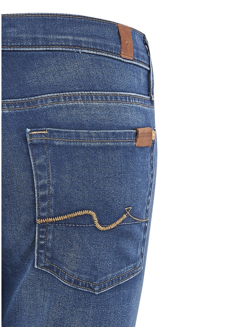 7 For All Mankind High Waist Skinny Jeans - Bright  Blue Oasis main image