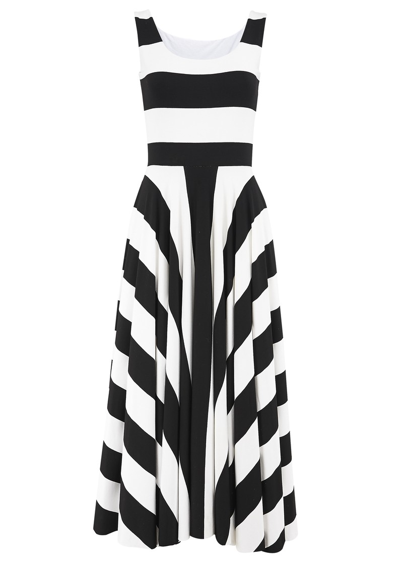 NADIA TARR 3/4 Stripe Dress - Black & White main image