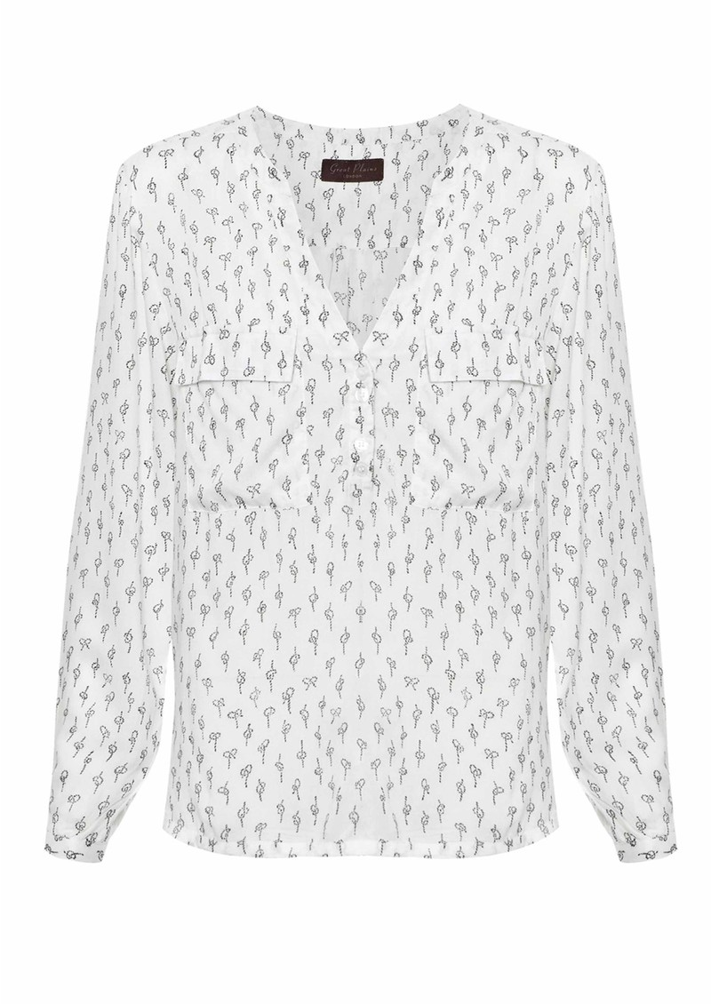 Great Plains Get Knotted Blouse - Cream & Black main image