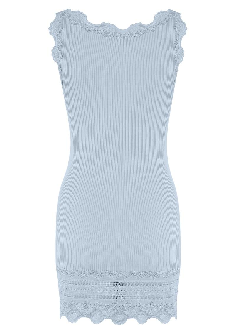 Rosemunde Wide Lace Silk Blend Tank - Pastel Blue main image