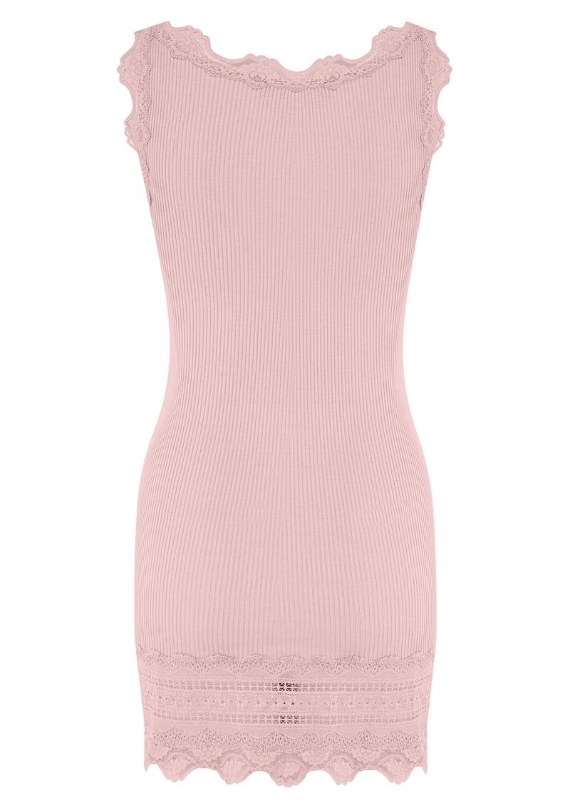 Rosemunde Wide Lace Silk Blend Tank - Strawberry Ice main image
