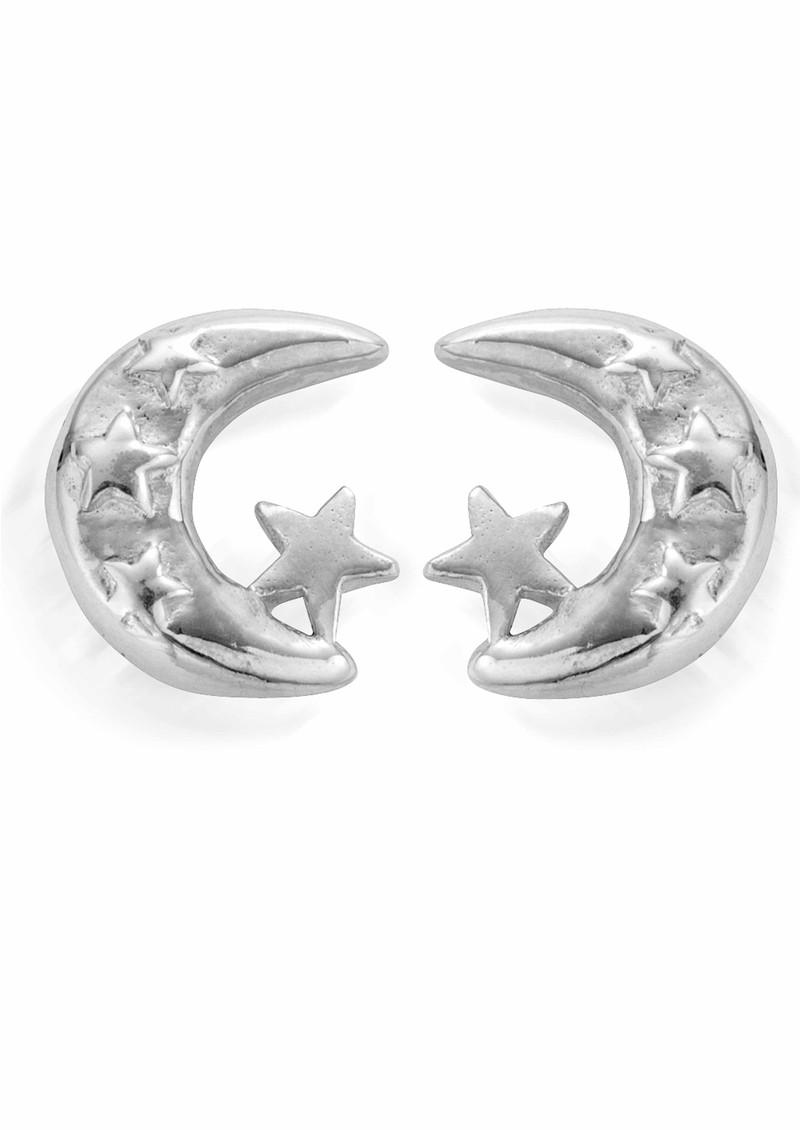 ChloBo Let's Dance Moon & Star Earrings - Silver main image