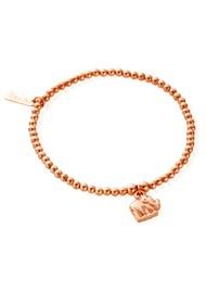ChloBo Let's Dance Cute Charm Mini Elephant Bracelet - Rose Gold
