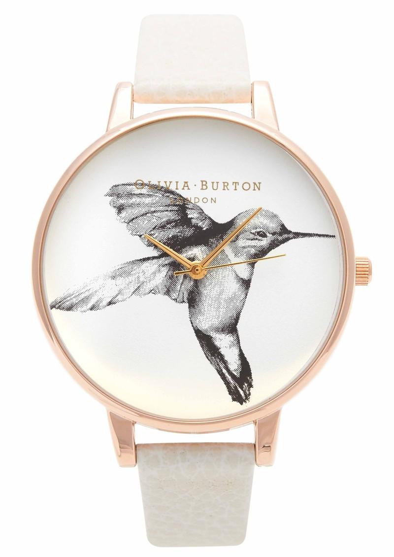 Olivia Burton Hummingbird Motif Watch - Mink & Rose Gold main image