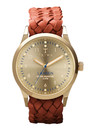 Gold Lansen Watch - Gold & Brown additional image