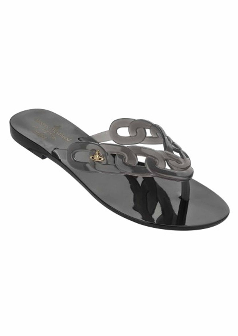 buying cheap incredible prices cheaper Melissa Vivienne Westwood Harmonic Links Flip Flops - Smoke