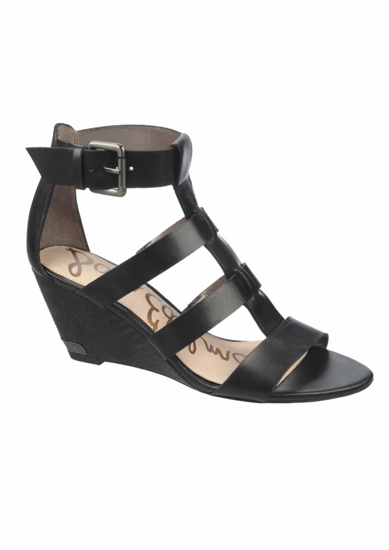 879af546e2c Sam Edelman Sabrina Vaquero Low Wedge Sandals - Black