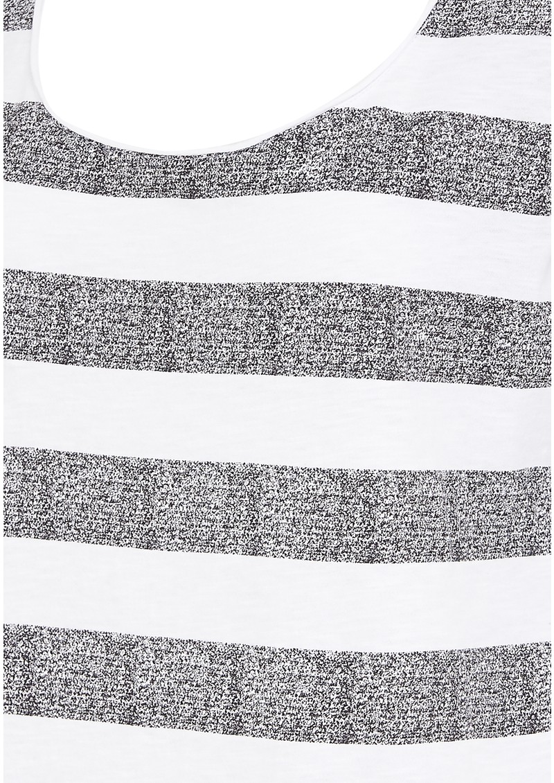 Twist and Tango Ingrid Striped Tee - White & Grey main image