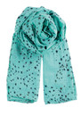 K Circle Star Scarf - Aqua Sky additional image