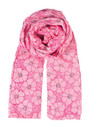 K Dots & Flowers Scarf - Neon Pink additional image