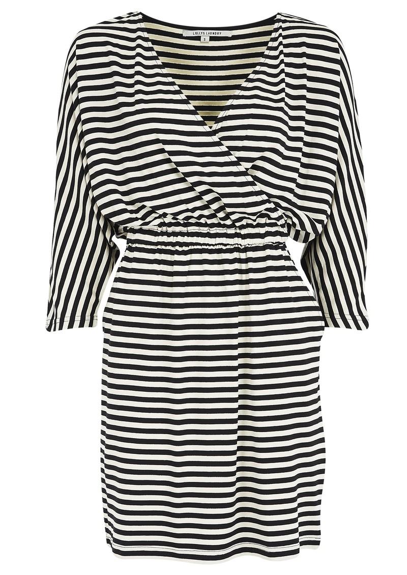 LOLLYS LAUNDRY Judy Stripe Dress - Black & Cream main image