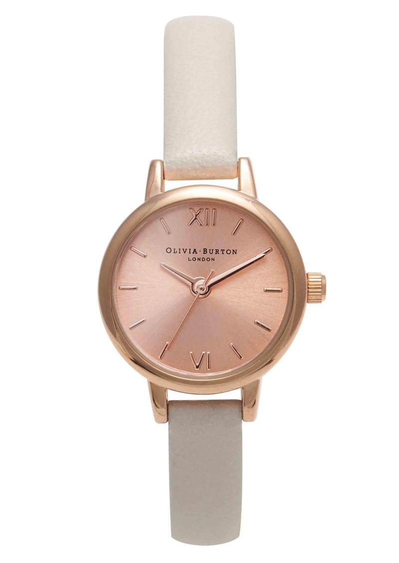 Olivia Burton Mini Dial Watch - Mink & Rose Gold main image