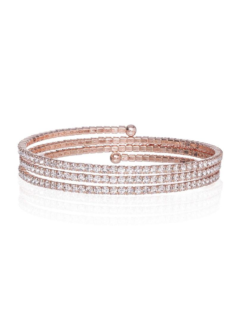 Ingenious Slinky Wrap Around Pave Bracelet - Rose Gold main image