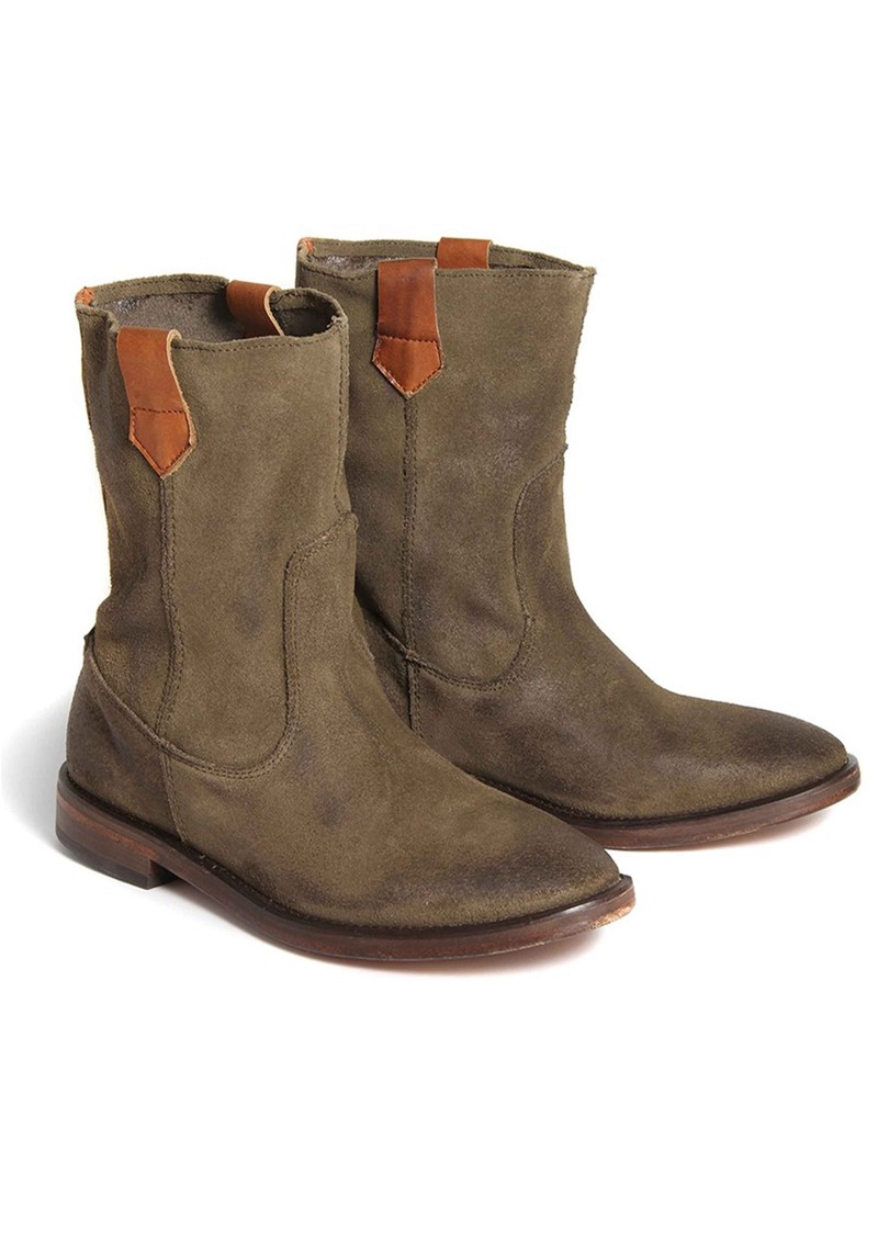 Hudson London Hanwell Suede Ankle Boots - Khaki  main image