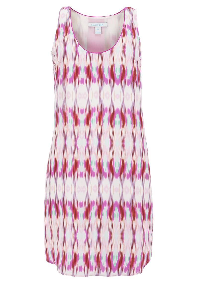 CHARLIE JADE Aja Sleeveless Silk Printed Dress - Pink main image
