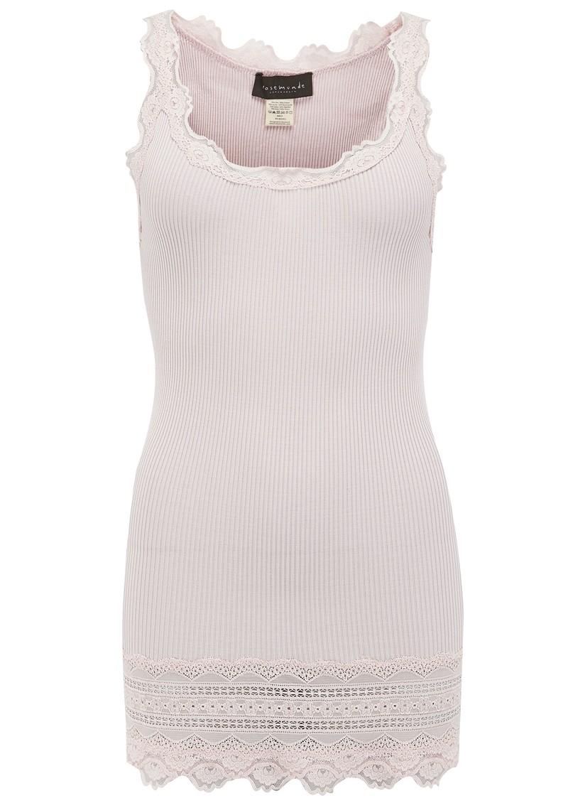 Rosemunde Wide Lace Silk Blend Tank - Soft Rose main image