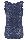 Rosemunde Lace Vest Top - True Blue
