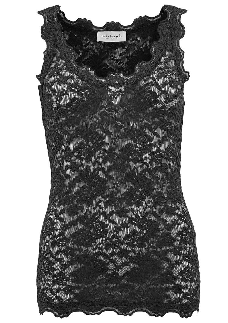 Rosemunde Lace Vest Top - Black main image